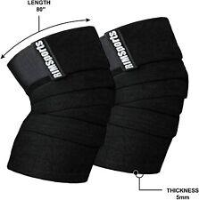 RIM SPORTS Weightlifting - Strength Training- Knee Wraps - Black