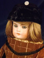 "15"" Antique BELTON Bisque Head Doll Cloth/Kid Body FRENCH WAIST Wonderful Outfit"