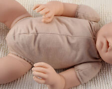 "19"" doe suede body for 3/4 arms & full side-loading legs reborn doll baby kits!"