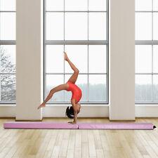 Costway Sp35455Pi 7 Feet Gymnastics Floor Folding Balance Beam Pink