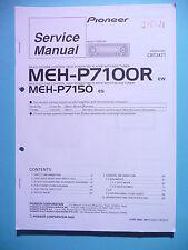 Service manual manual for Pioneer MEH-P7100R/MEH-P7150,ORIGINAL