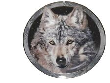 "Collectable Plate Wolf ""Midnight Snow ""Bradford 1994 Slightly Used"