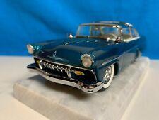 Danbury Mint 1955 Ford Crown Vic Custom, die-cast, 1:24 turquoise/white, MIB