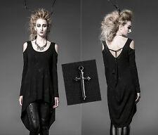 OUTLET Haut tunique asymétrique gothique punk lolita crucifix bijou Punkrave