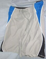 Quiksilver Adult Size 34 Gray Blue Black Board Shorts ( Large Surf Surfing )