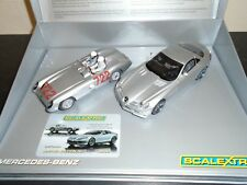 """Scalextric C2783a """"Mille Miglia 1955"""" Mercedes  twin pack m/b ( with outer box)"""