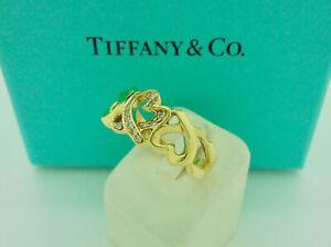 Tiffany & Co. Paloma Picasso Loving Heart Diamond 18k Yellow Gold Ring US6.5