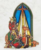 Stained Glass Christmas Votive/Tealight Candle Holder - Three Wisemen