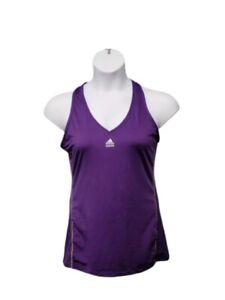Adidas TECH FIT Tank Top Sleeveless Shirt Purple  CLIMA COOL Women's Large