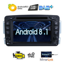 Android 8.1 Radio DVD GPS Navigation For Mercedes Benz W203 C200 C230 G-W463 CLK