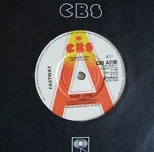 "FASTWAY: Easy Livin' (CBS)  1983 7"" - Demo"