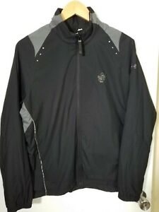 1 NWT UNDER ARMOUR WOMEN'S JACKET, SIZE: LARGE, COLOR: BLACK/GRAY (J110)