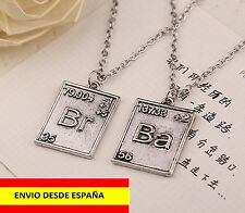 COLGANTES COLLAR BR BA PAR DE COLLARES SERIE BREAKING BAD WALTER WHITE TV MODA