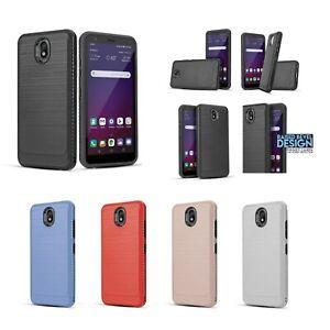 """for 5.45"""" LG K30 (2019), LG Escape Plus Brushed Metal Slip Slim Bumper PhoneCase"""