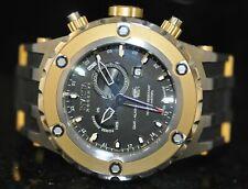 Men's Invicta Swiss Reserve GMT Alarm Chrono Black Dial Black Poly Watch 6204