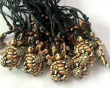 3 pcs Handmade Tibetan trendy tortoise resin vintage men hemp rope necklace