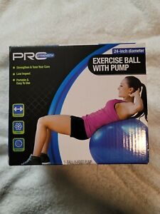 PRO Strength Exercise Ball With Pump NEW 24 In Diameter