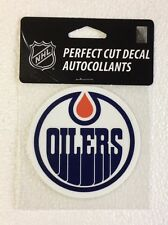 "Edmonton Oilers 4"" x 4"" Logo Truck Car Window Auto Die Cut Decal Color New NHL"