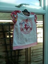 """Girls """"Woolworths"""" Multi Coloured Top 100% Cotton Size 6-7 Yrs VGC"""