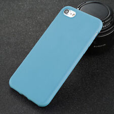 For iPhone 5 6s X 8 Plus Shockproof Thin Soft TPU Silicone Matte Back Case Cover