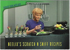 TC Star Trek Voager Season 1 Series 2 Neelix's Scratch N Sniff Recipes Card R6