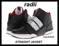 NEW Radii SJV2 Black Red/Silver Leather  Men size 13 FREE SHIP
