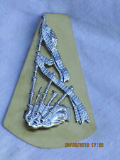 Royal Regiment of Scotland, Pipers Badge, Dudelsack Abzeichen Metall,38x65mm