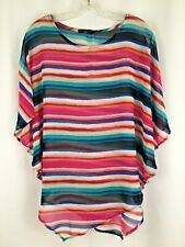 NWOT CHA CHA VENTE  Sheer Over Top Asymmetrical Hem size S
