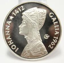 1962 Argenteus III Ducat silver coin JOHANNA GALLIA Werner Graul GEM PRF67