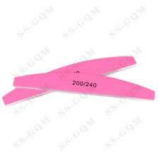 10Pcs Pink Nail Files 200/240 Sandpaper Sanding Nail Buffer Polishing Manicure