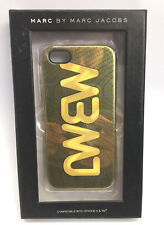 NEW Marc by Marc Jacobs MBMJ Logo Gold Metallic iPhone 5/5s Case