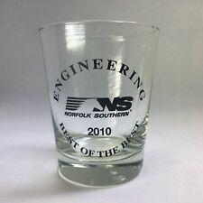 NORFOLK SOUTHERN Engineering Drinking Old Fashioned Cocktail Glass 2010