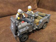 Custom WWII Jeep Willys Building Block Compatible Minifigure Weapons Vietnam
