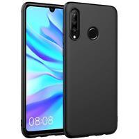 Hülle für Huawei P30 Lite Schutzhülle Handy Hülle Slim Case Weich Matt Schwarz