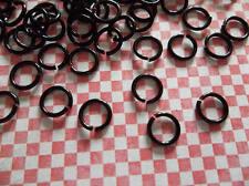 6mm Black Jump Rings - Round Jump Rings - 20 Gauge - 150 Pieces