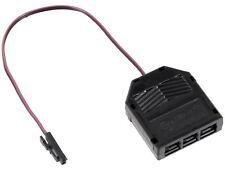 12V MINI-AMP - 3-Fach Verteiler Anschlussadapter 0,15m Kabel mit Stecker schwarz