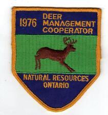 1976 ONTARIO MNR DEER HUNTER PATCH-MICHIGAN DNR DEER-MOOSE-BEAR-CREST-BADGE-FISH