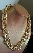 Mimco STUNNING Gold Large Chain Linked Necklace Dust Bag