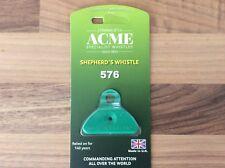 Acme Shepherds Plastic Lip Whistle IN GREEN. Sheep Dog Training Herding