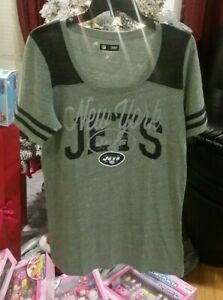 Women's NFL Team Apparel New York Jets Women's  Large Football  V Neck Shirt