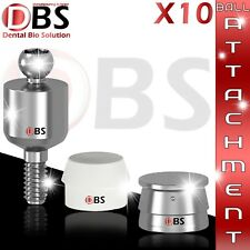 10X Set Of Ball Attachment & Silicon Cap & Metal Housing For Dental Implant Lab