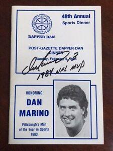 "Dan Marino, ""Autographed"", 1984 ""Man of the Year"" Program w/ Inscription (Rare)"
