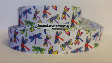 Grosgrain Ribbon Frogs Dragon Flies Reptiles Insects Patchwork Chevron 7//8/""