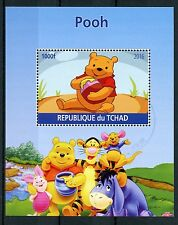 Ciad 2016 CTO Winne the Pooh Orso IV M / S Tigro Pimpi Disney Cartoni Animati STAMPS