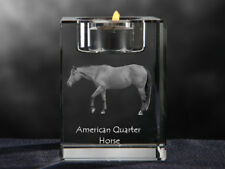 American Quarter Horse, Kristall-Kerzenleuchter mit Pferd, Crystal Animals DE
