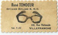 Publicité ancienne chez un opticien