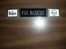 PAUL McCARTNEY (BEATLES) NAMEPLATE FOR SIGNED PHOTO/RECORD/ALBUM