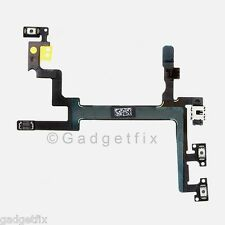 Power Mute Volume Button Switch Connector Flex Cable Ribbon Parts for iphone 5