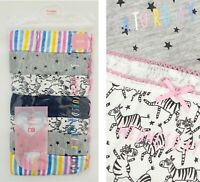 BNWT Mothercare Girls 7 Multi Pack Zebra Pink Cotton Knickers Briefs Underwear