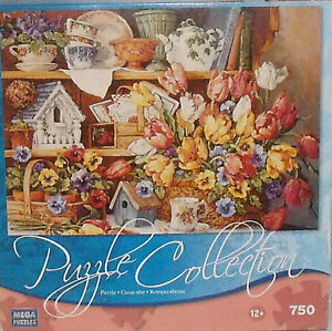 Floral Treasures Puzzle Collection 750 Pcs NEW Sealed Unopened Vtg 2008 Mega